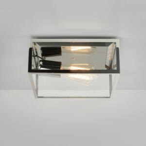 Astro Bronte 1353002 Fürdőszoba mennyezeti lámpa nikkel átlátszó 1 x 60W Max E27/ES 10,9 x 25 x 25 cm