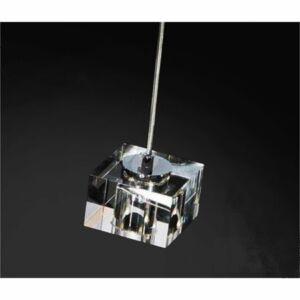 Azzardo BOX AZ-0036 Egyágú függeszték króm 1xG4 max. 20W 150x13 cm