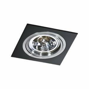 Azzardo Siro AZ-0769 Álmennyezetbe építhető lámpa fekete 1 x G53 max. 50W 2,5 x 17 x 17 cm
