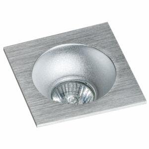 Azzardo Hugo AZ-GM2118S-ALU-ALU Álmennyezetbe építhető lámpa alumínium 1 x GU10 max. 50W 4,2 x 11,5 x 11,5 cm