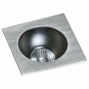 Azzardo Hugo AZ-GM2118S-ALU-BK Álmennyezetbe építhető lámpa alumínium 1 x GU10 max. 50W 4,2 x 11,5 x 11,5 cm