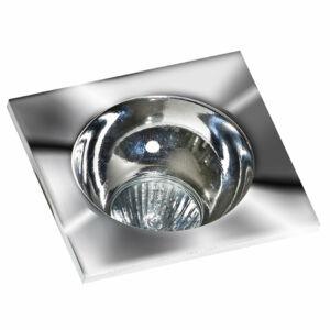 Azzardo Hugo AZ-GM2118S-CH-CH Álmennyezetbe építhető lámpa króm 1 x GU10 max. 50W 4,2 x 11,5 x 11,5 cm