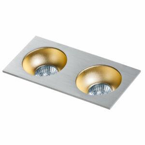 Azzardo Hugo AZ-GM2203S-ALU-CHA Álmennyezetbe építhető lámpa arany 2 x GU10 max. 50W 4,2 x 23,3 x 11,5 cm