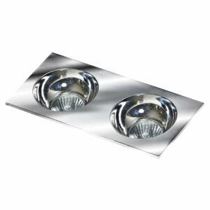 Azzardo Hugo AZ-GM2203S-CH-CH Álmennyezetbe építhető lámpa króm 2 x GU10 max. 50W 4,2 x 23,3 x 11,5 cm