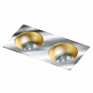 Azzardo Hugo AZ-GM2203S-CH-CHA Álmennyezetbe építhető lámpa arany 2 x GU10 max. 50W 4,2 x 23,3 x 11,5 cm