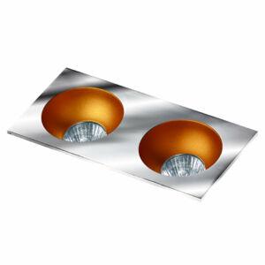 Azzardo Hugo AZ-GM2203S-CH-GO Álmennyezetbe építhető lámpa arany 2 x GU10 max. 50W 4,2 x 23,3 x 11,5 cm