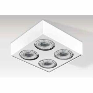 Azzardo Paulo AZ-1799 Mennyezeti spot lámpa fehér 4 x G53 max. 50W 13 x 31,3 x 31,3 cm