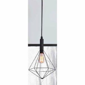 Azzardo Diamond AZ-MD5039-1BK Egyágú függeszték fekete fekete 1 x E27 max. 60W 150 x 28 x 28 cm