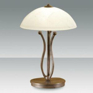 Fabas Luce DEVON 2498-30-171 Asztali lámpa sötétrozsda 1 x max 75 G9 W 50x30 cm