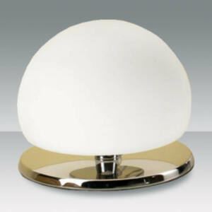 Fabas Luce MORGANA 2513-30-138 Érintőkapcsolós asztali lámpa króm fehér 1 x max 40 G9 W ø13x15 cm
