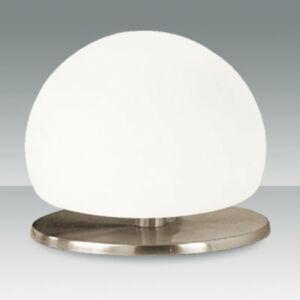 Fabas Luce MORGANA 2513-30-178 Érintőkapcsolós asztali lámpa nikkel fehér 1 x max 40 G9 W ø13x15 cm