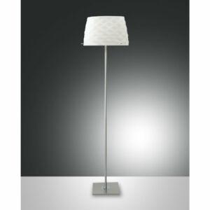 Fabas Luce 3322-10-178 Állólámpa SOFT szatinált nikkel fehér fém üveg
