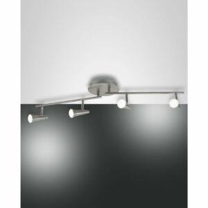 Fabas Luce NIKO 3325-84-178 Mennyezeti spot lámpa szatinált nikkel LED 4x5W 99x18x19cm