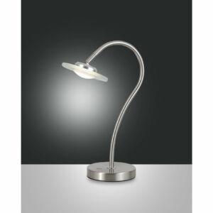 Fabas Luce CROW 3327-30-178 Ledes asztali lámpa szálcsiszolt alumínium LED 5W 23x36cm