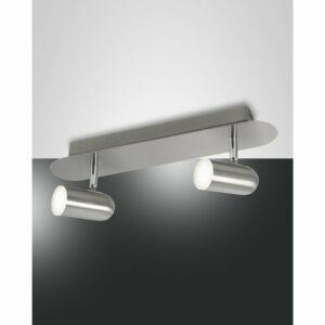 Fabas Luce SPOTTY 3328-82-178 Mennyezeti spot lámpa szatinált nikkel LED 2x5W 48x8x15cm