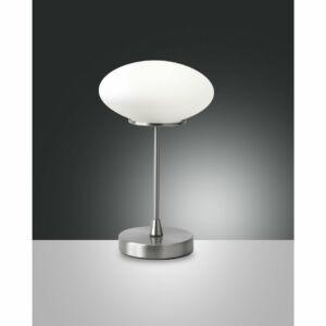 Fabas Luce JAP 3339-30-178 Ledes asztali lámpa szatinált nikkel LED 5W Ø15x24cm