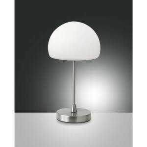 Fabas Luce GAIA 3341-30-178 Ledes asztali lámpa szatinált nikkel LED 5W Ø14x27cm