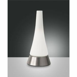 Fabas Luce GLIFI 3348-30-178 Ledes asztali lámpa szatinált nikkel LED 5W Ø13x29cm