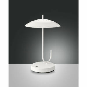 Fabas Luce OMBRELLO 3351-30-102 Ledes asztali lámpa fehér LED 8W Ø22x34cm