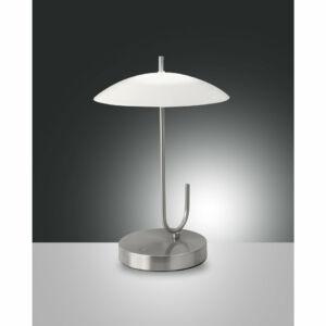 Fabas Luce OMBRELLO 3351-30-178 Ledes asztali lámpa szatinált nikkel LED 8W Ø22x34cm