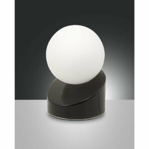 Fabas Luce GRAVITY 3360-30-101 Ledes asztali lámpa fekete LED 5W Ø10x15cm