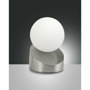 Fabas Luce 3360-30-178 Ledes asztali lámpa GRAVITY szatinált nikkel fém üveg