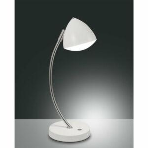 Fabas Luce 3297-30-102 Asztali lámpa BIKE fehér fém