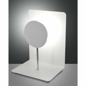 Fabas Luce FULLMOON 3247-30-102 Ledes asztali lámpa fehér LED 12W 20x15x27cm