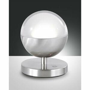 Fabas Luce MELVILLE 3262-30-178 Ledes asztali lámpa szatinált nikkel LED 8W Ø10x13cm