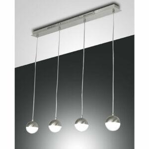 Fabas Luce MELVILLE 3262-49-178 Többágú függeszték szatinált nikkel LED 32W 90x8x max. 200cm