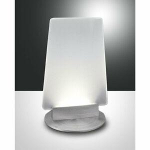 Fabas Luce SOFI 3258-30-212 Ledes asztali lámpa szálcsiszolt alumínium LED 7W Ø14x15x23cm