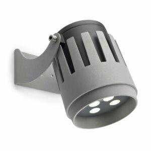 Leds-C4 POWELL 05-9856-34-CL Kültéri LED reflektor szürke 9xLED 19,5W Ø12x16,4xmax26cm