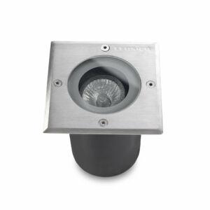Leds-C4 GEA 55-9737-CA-37 Talajba süllyeszthető lámpa acél 1xGU10 max. 50W 12x12x17cm