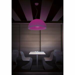 LineaLight EYE LED 10600 Modern függeszték fehér LED 14W;1xE27 LED RGB 5W Ø75x39x max. 170cm