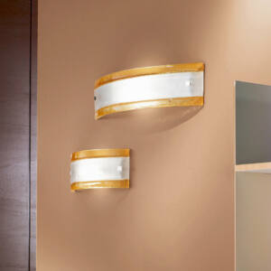 LineaLight AMBRA/CRISTALLO 4533 Fali lámpa borostyán fém