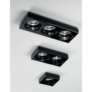 LineaLight INCASSO 6371 Beépíthető lámpa fekete üveg