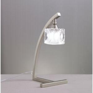 Mantra CUADRAX 0004031 Asztali lámpa szatinált nikkel fém