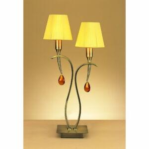 Mantra VIENA 0360 Asztali lámpa borostyán 2xE14 max. 40 W 27x54 cm