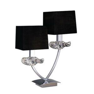 Mantra AKIRA 0790 Asztali lámpa króm 2xE14 max. 40 W 31x39.5x14 cm