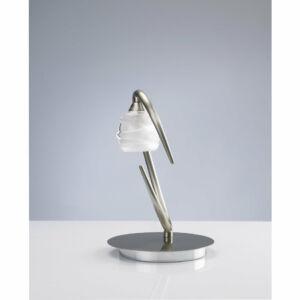 Mantra 1817 Asztali lámpa LOOP szatinált nikkel fém