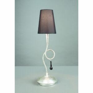 Mantra 3535 Asztali lámpa PAOLA ezüst fém