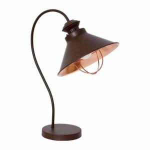 Nowodvorski Loft 5060 Éjjeli asztali lámpa grafit csokoládé fém acél