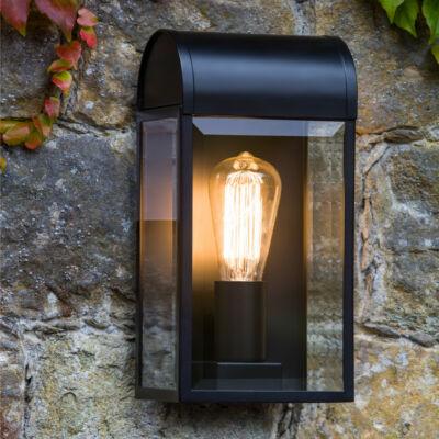 Astro Newbury 1339001 fürdőszoba fali lámpa fekete átlátszó fém