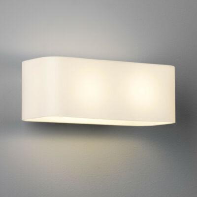 Astro Obround 1072001 fali lámpa ezüst fehér fém üveg