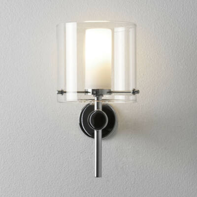 Astro Arezzo 1049001 fürdőszoba fali lámpa króm átlátszó fém üveg