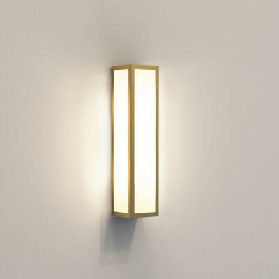 Astro Salerno 1178006 fürdőszoba fali lámpa arany fehér fém üveg