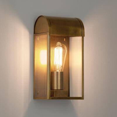 Astro Newbury 1339003 kültéri fali lámpa antik sárgaréz átlátszó fém