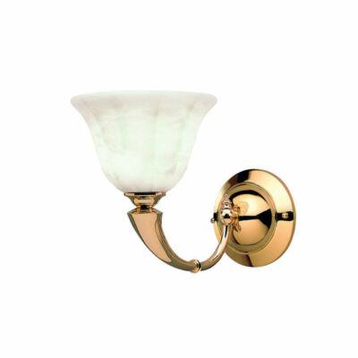 Leds-C4 TROMPETA 05-0652-01-55 alabástrom fali lámpa arany üveg