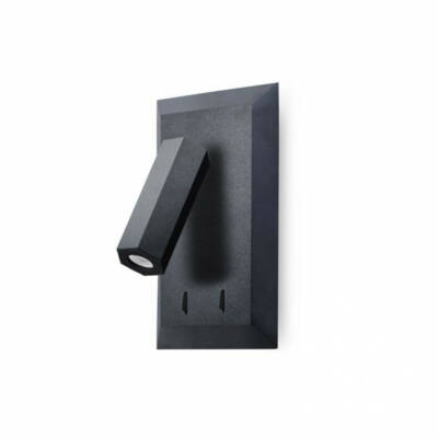 Leds-C4 CLASS 05-5949-05-05 fali lámpa fekete acél