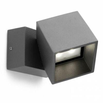 Leds-C4 CUBUS 05-9685-Z5-CL kültéri fali led lámpa szürke alumínium